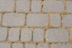 Droga od kamienia brukowe cegiełki szare Fotografia Royalty Free