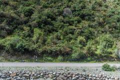 Droga od Olllantaytambo Quillabamba w Abra Malaga przepustki sekcji, Pe fotografia royalty free