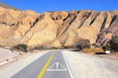 Droga od Salta Atacama pustynia Zdjęcie Stock