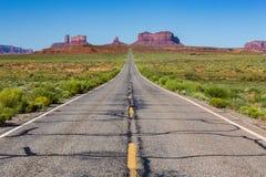 Droga Pomnikowa dolina, Utah, usa Obrazy Royalty Free