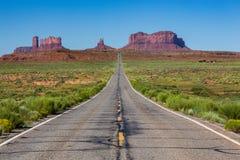 Droga Pomnikowa dolina, Utah, usa Zdjęcia Stock