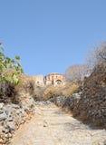 Droga przemian kościół Agia Sofia przy Monemvasia Fotografia Stock