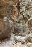 Droga przemian przy Imbros wąwozem crete Grecja Zdjęcie Royalty Free