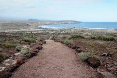 Droga przemian w Powulkanicznej pustyni Obraz Royalty Free
