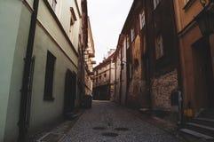 Droga przemian w starym miasteczku zdjęcie stock