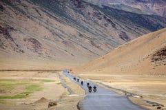 Droga przez Changthang plateau Fotografia Royalty Free