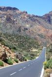 Droga przez parka narodowego el Teide obrazy royalty free