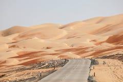 Droga przez pustyni Zdjęcia Stock