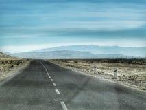 Droga przez pustyni Fotografia Stock