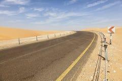 Droga przez pustyni Obrazy Stock