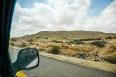 Droga przez pustynia negew w Izrael Zdjęcie Royalty Free