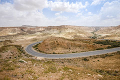 Droga przez pustynia negew w Izrael Obraz Royalty Free