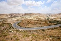 Droga przez pustynia negew w Izrael Obrazy Stock