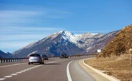 Droga przez Pyrenees Zdjęcie Stock