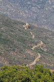 Droga przez sekwoja lasu państwowego Zdjęcie Stock