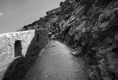Droga przez skał zdjęcie stock