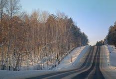 Droga przez Syberyjskiej tajgi Zdjęcia Stock
