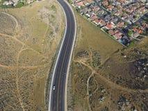 Droga przez wzgórzy Obraz Royalty Free