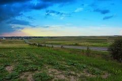 Droga przez zielonych poly Obrazy Royalty Free
