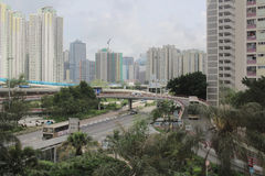 droga przy Hong Kong 2016 Obrazy Royalty Free