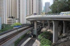 droga przy Hong Kong 2016 Zdjęcie Royalty Free