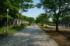 Droga przy parkiem Zdjęcie Stock