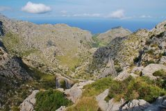 Droga Sa Calobra, Majorca Fotografia Stock
