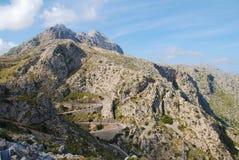 Droga Sa Calobra w Majorca Fotografia Royalty Free