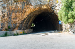 Droga Sa Calobra w Serra De Tramuntana - góry w Mallorc Zdjęcia Royalty Free
