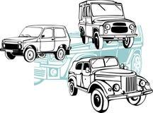 droga samochody - wektoru set Obrazy Stock