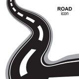 Droga, sposób, autostrady Perspektywiczna Wektorowa ikona, piktogram lub znak, ilustracji