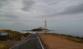 Droga St ` s Maryjna wyspa - Whitley zatoka Zdjęcie Royalty Free