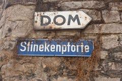 Droga stary tunel i katedra Zdjęcia Stock