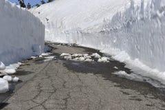 Droga Stronniczo Rozjaśniająca od śniegu Obrazy Royalty Free
