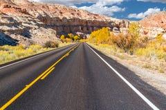 Droga w Capitol rafy parka narodowego Obrazy Royalty Free