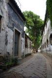 Droga w Chińskim tradycyjnym wodnym miasteczku Zdjęcia Stock