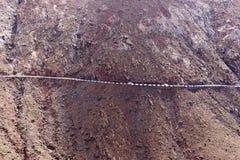 Droga w górach Fuerteventura wyspa kanaryjska Tenerife zdjęcie stock