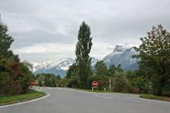 Droga w górach Szwajcaria Fotografia Stock