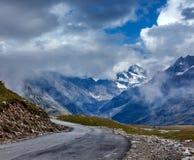 Droga w himalajach Fotografia Stock