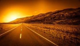 Droga w kierunku Alps Zdjęcie Stock