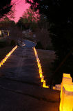 droga w kierunku słońca Zdjęcia Royalty Free