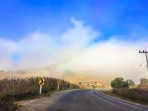 Droga w mgle Obrazy Royalty Free