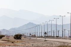 Droga w Oman, Środkowy Wschód Zdjęcia Stock