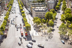 Droga w Paryż Fotografia Stock