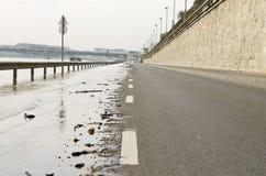Droga w powodzi Zdjęcie Royalty Free