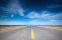 Droga w pustyni Obrazy Royalty Free
