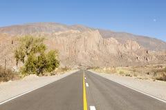 Droga w pustyni Zdjęcie Royalty Free