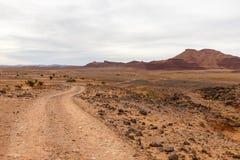 Droga w pustyni, sahara, Zdjęcie Royalty Free