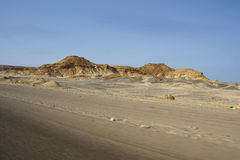 Droga w pustynia krajobrazie Obraz Royalty Free