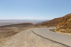 droga w pustynia negew Zdjęcia Royalty Free